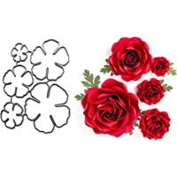 5Pcs/Set Flower Metal Die Cuts,Spring Petal Wedding Flower Leaf Cutting Dies Cut Stencils DIY Scrapbooking Craft Album…