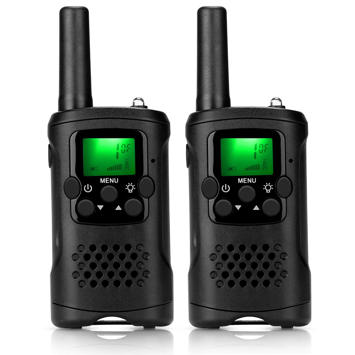 ieGeek Walkie Talkies for Kids, Toys for 3-12 Year Old Boys 22 Channel 2 Way Radio 3 Miles Long Range Handheld Battery Powered Walkie Talky with Flashlight Best Children's Day Gift (Black) by ieGeek (Image #1)
