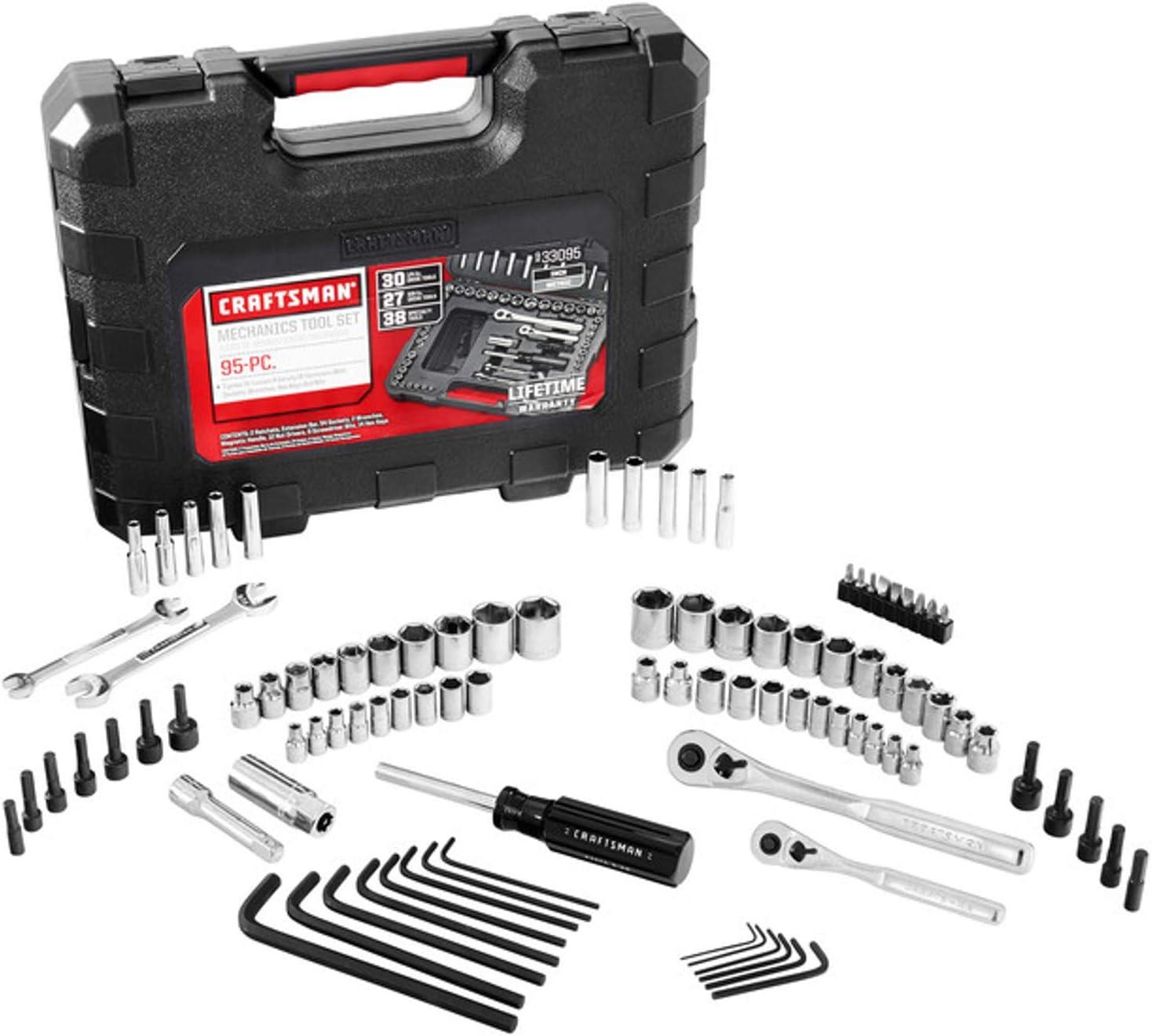 CMMT12021 SAE // Metric 83-Piece 1//4-Inch Drive CRAFTSMAN Mechanics Tool Set