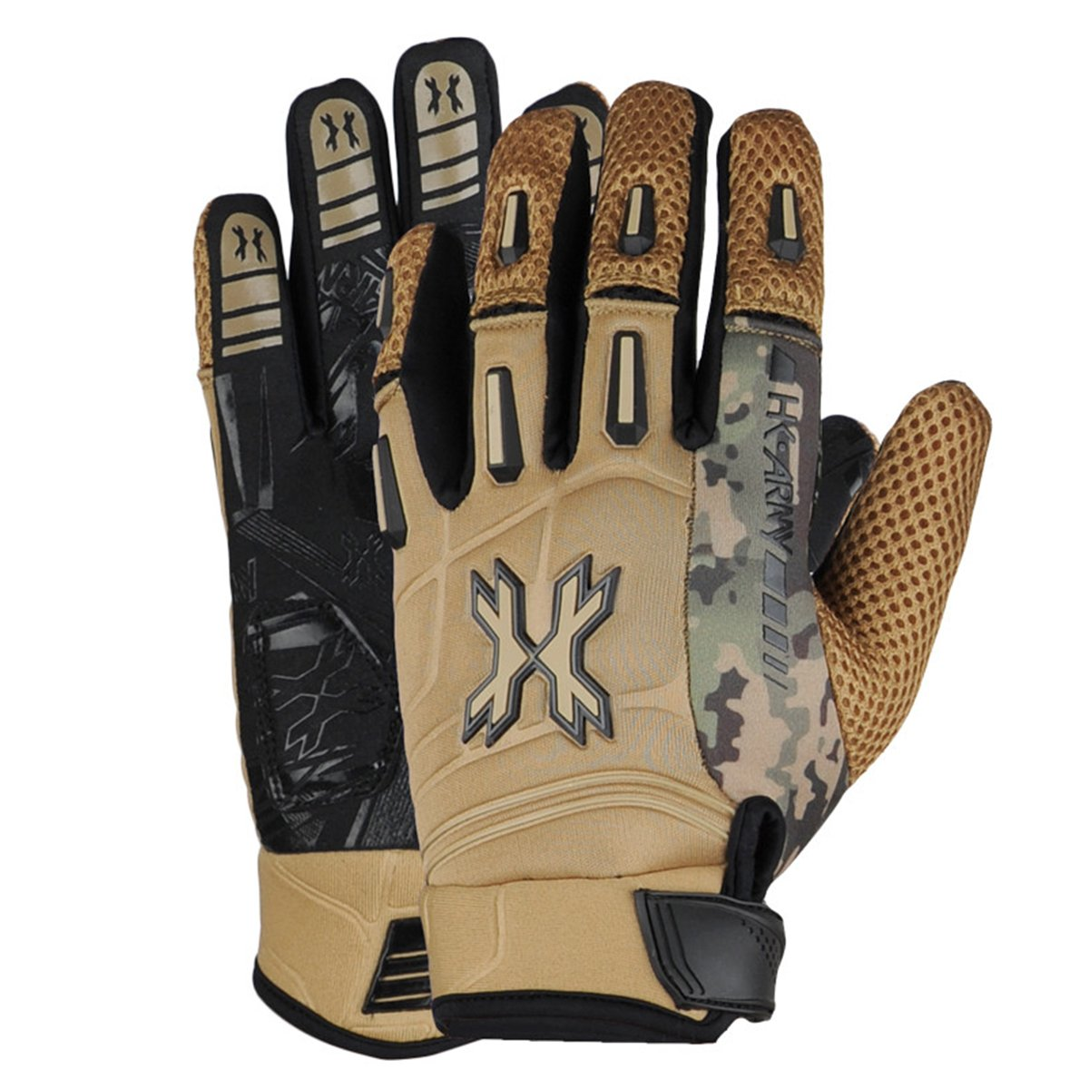HK Army Pro Gloves - Full Finger - Tan Camo - XL by HK Army