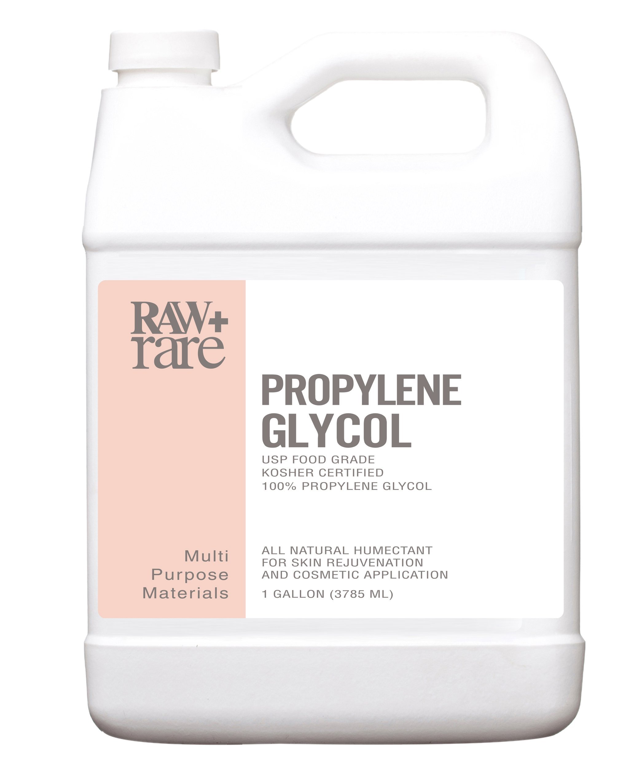 Propylene Glycol Gallon Food Grade 100% Pure USP Solution, Kosher, Humidor, Humectant, Fog Machine & Antifreeze by Raw Plus Rare (Gallon) …