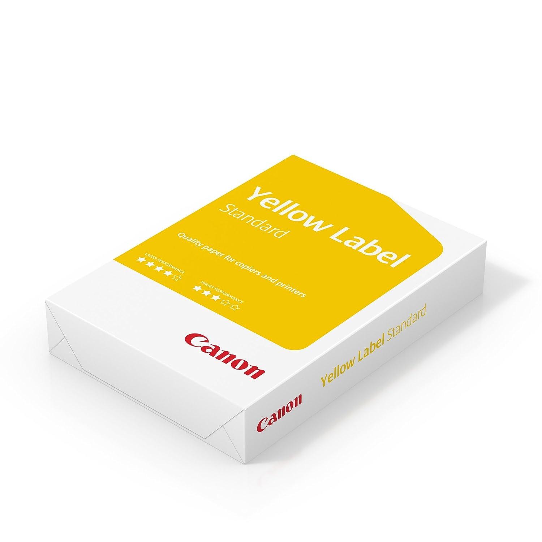 Canon Germania Yellow Label Standard carta, 5x 500fogli EU Ecolabel, tutte le stampanti, A4, multifunzione, 80g/m², bianco Cie 150(Ottimizzata per confezione) 97003515