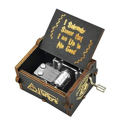 BOENFU Hedwigs Theme Caja de música de Harry Potter, Caja de música con manivela de