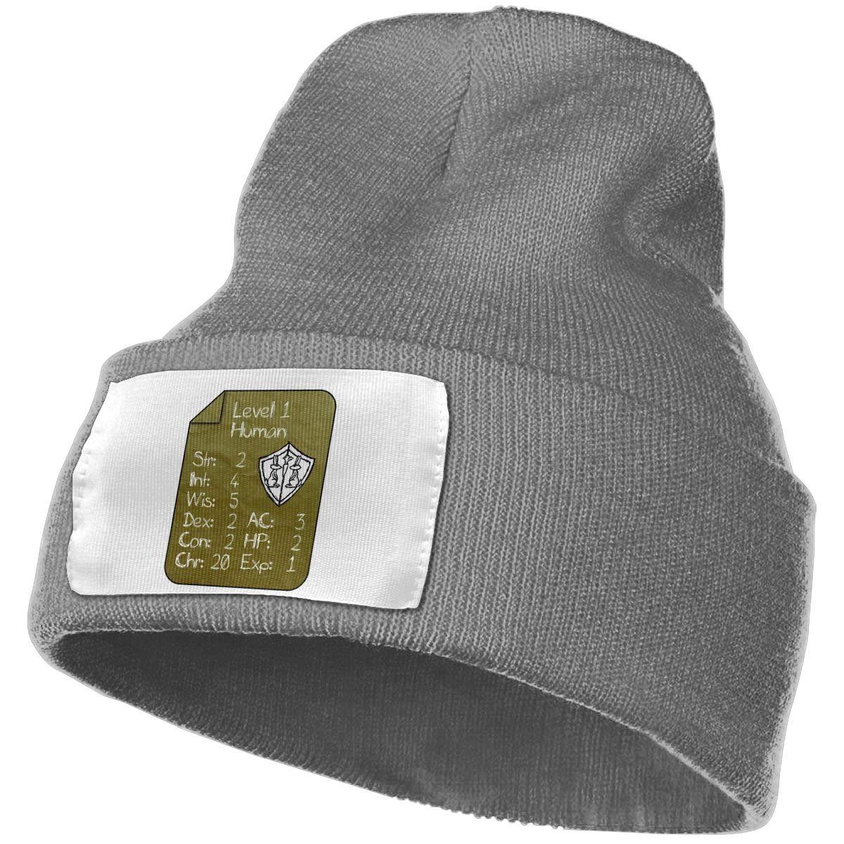 Adults Level 1 Human Elastic Knitted Beanie Cap Winter Warm Skull Hats