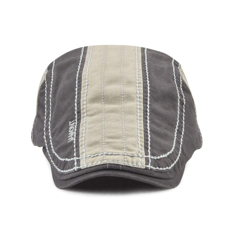 Feisette Retro Beret Cap for Men Casual Visor Peaked Hat Gorras Planas Flat Cap Womens Soft Patchwork Boina Newsboy Hat