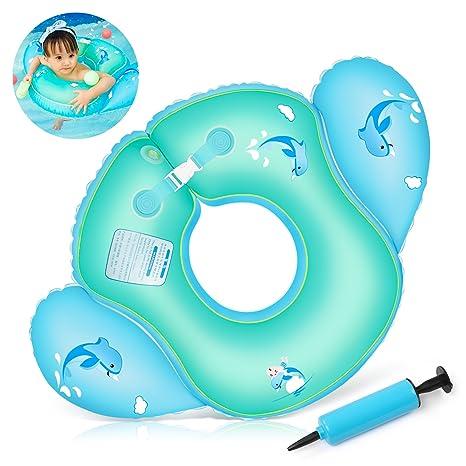 Waitiee Flotador Ajustable Inflable para bebés, Infant Natación Flotador Inflable Swim Anillo Piscina Inflable Playa