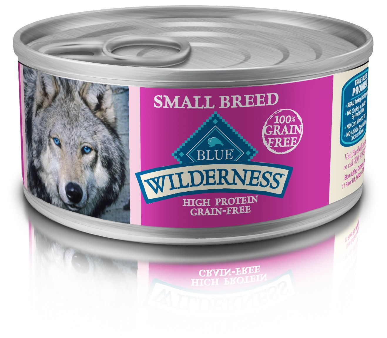 Blue Buffalo Wilderness High Protein Grain Free, Natural Adult Small Breed Wet Dog Food, Turkey & Chicken Grill 5.5-Oz Can (Pack Of 24) by Blue Buffalo Company