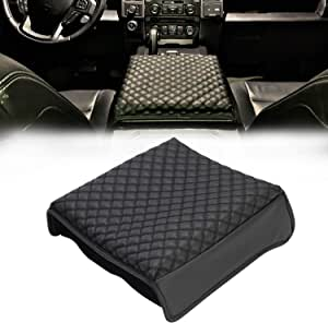 Details about  /Real Leather Gray Stitch Center Console Cover Fit 09-14 Ford F150,Raptor