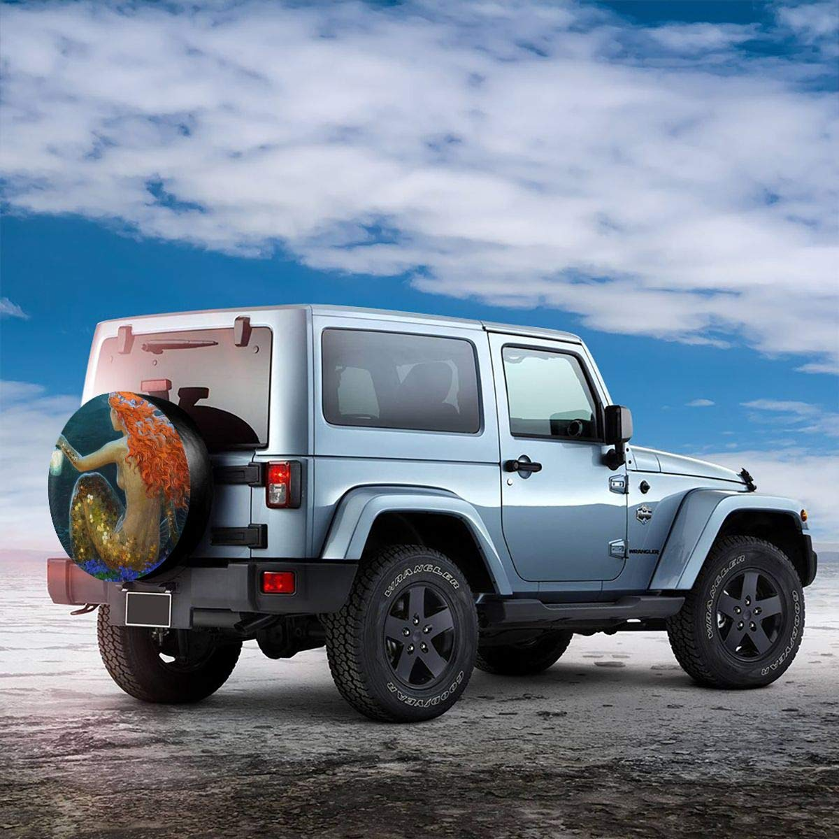 NOT Spare Tire Cover Waterproof Dust-Proof Universal Wheel Tire Cover Fit for Jeep Camper Travel Trailer RV SUV Truck and Many Vehicle 14 15 16 17Inch