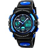 Kids Digital Watch Outdoor Sports 50M Waterproof Electronic Watches Alarm Clock 12/24 H Stopwatch Calendar Boy Girl…