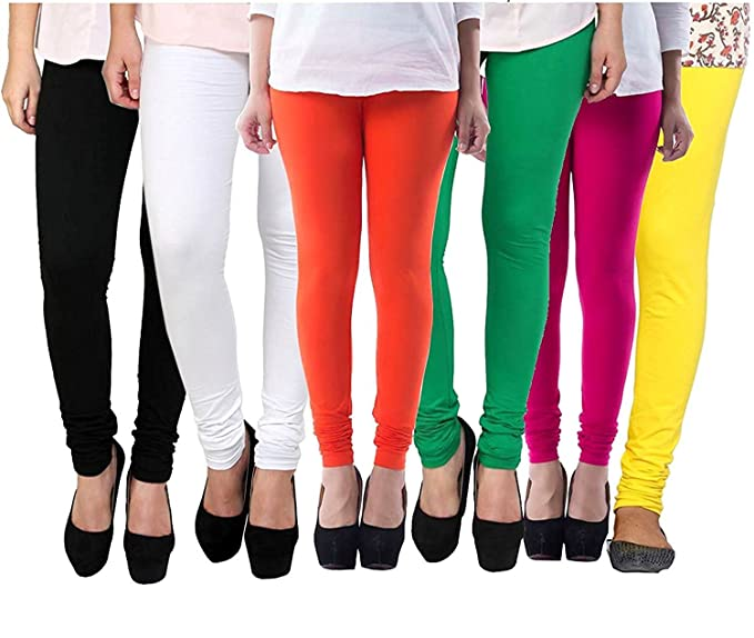 ee1a33218c030e Rooliums Women's Cotton Leggings Combo (Pack of 6) (HRCLCOMBO6-6_Free  Size_Multi Color): Amazon.in: Clothing & Accessories