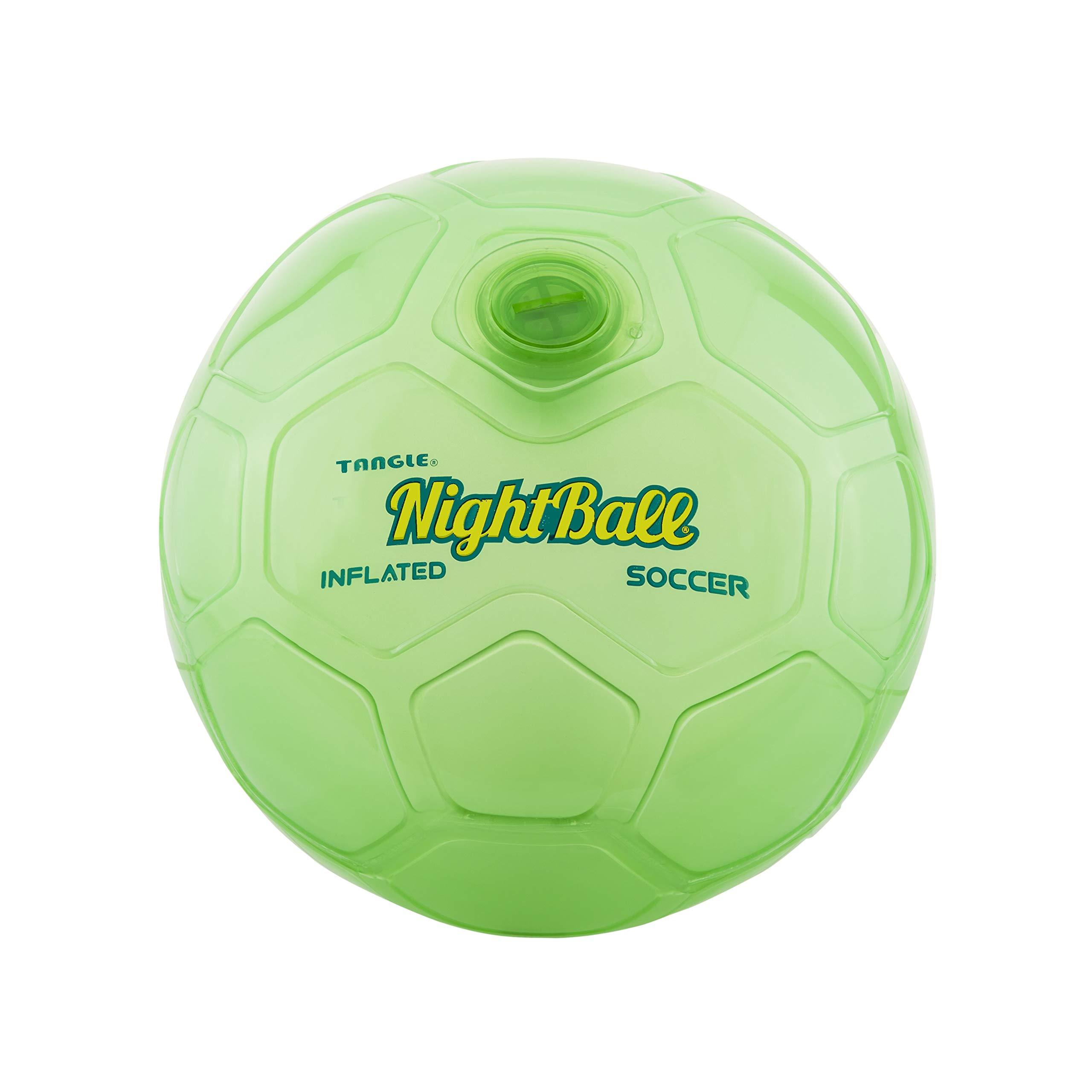 Nightball Tangle Creations Light Up Soccer Ball (Size 5, Green) by Nightball