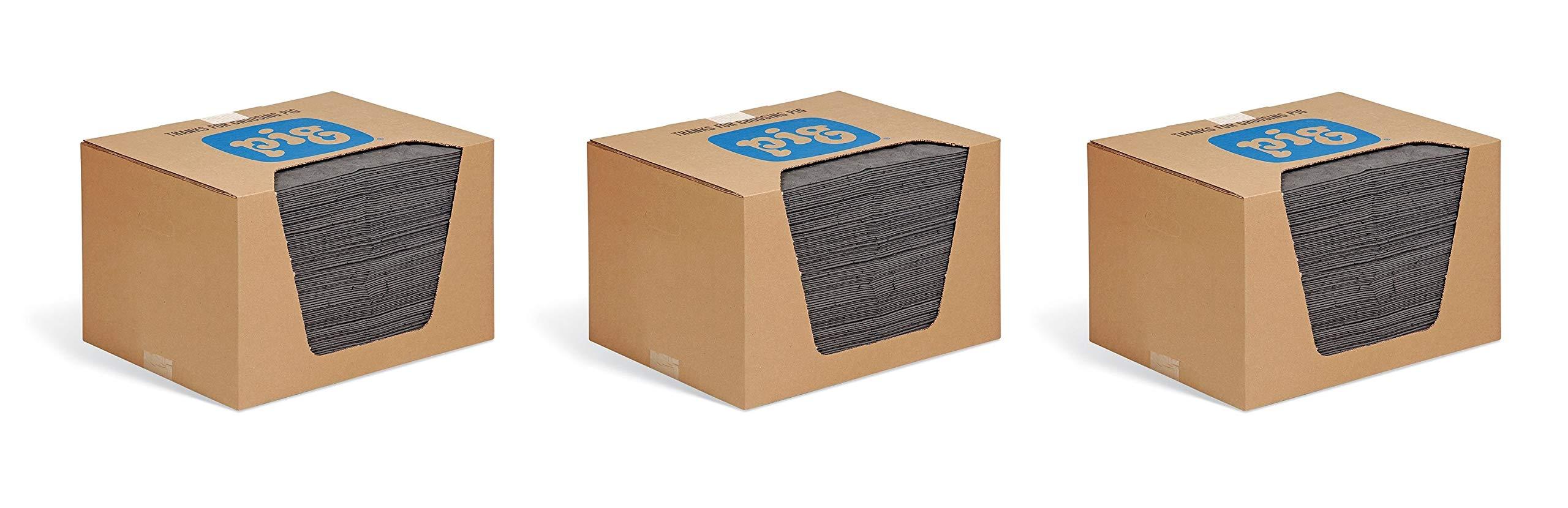 New Pig Mat - Oil Absorbent Pad Absorbs 28 Ounces - 100 Heavyweight 15'' x 20'' Mat Pads - MAT240 (3 X Pack of 100)