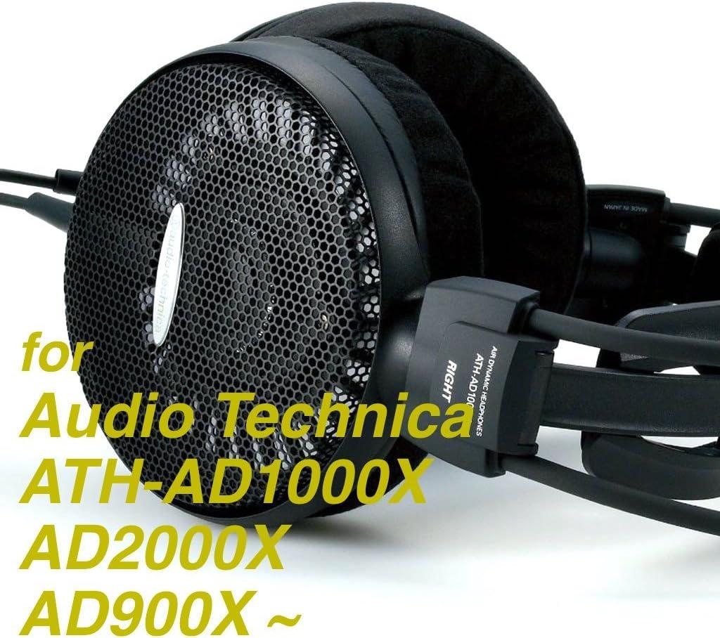 Lifreak Replacement Velour Ear Pads for Audio Technica ATH-AD1000X AD2000X AD900X AD700X A500 A500X A700 A900X Headphone Memory Foam