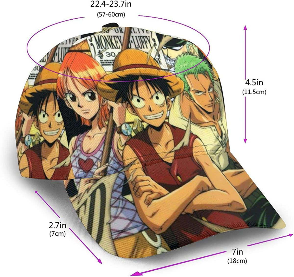 ONE Piece Baseball Cap Unisex Adjustable Hip Hop Hat Cotton Classic Washed Men Women Hat Black