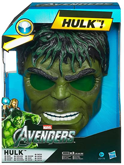 Marvel Avengers Hulk Electronic Light-Up Face Mask Costume Dress-Up