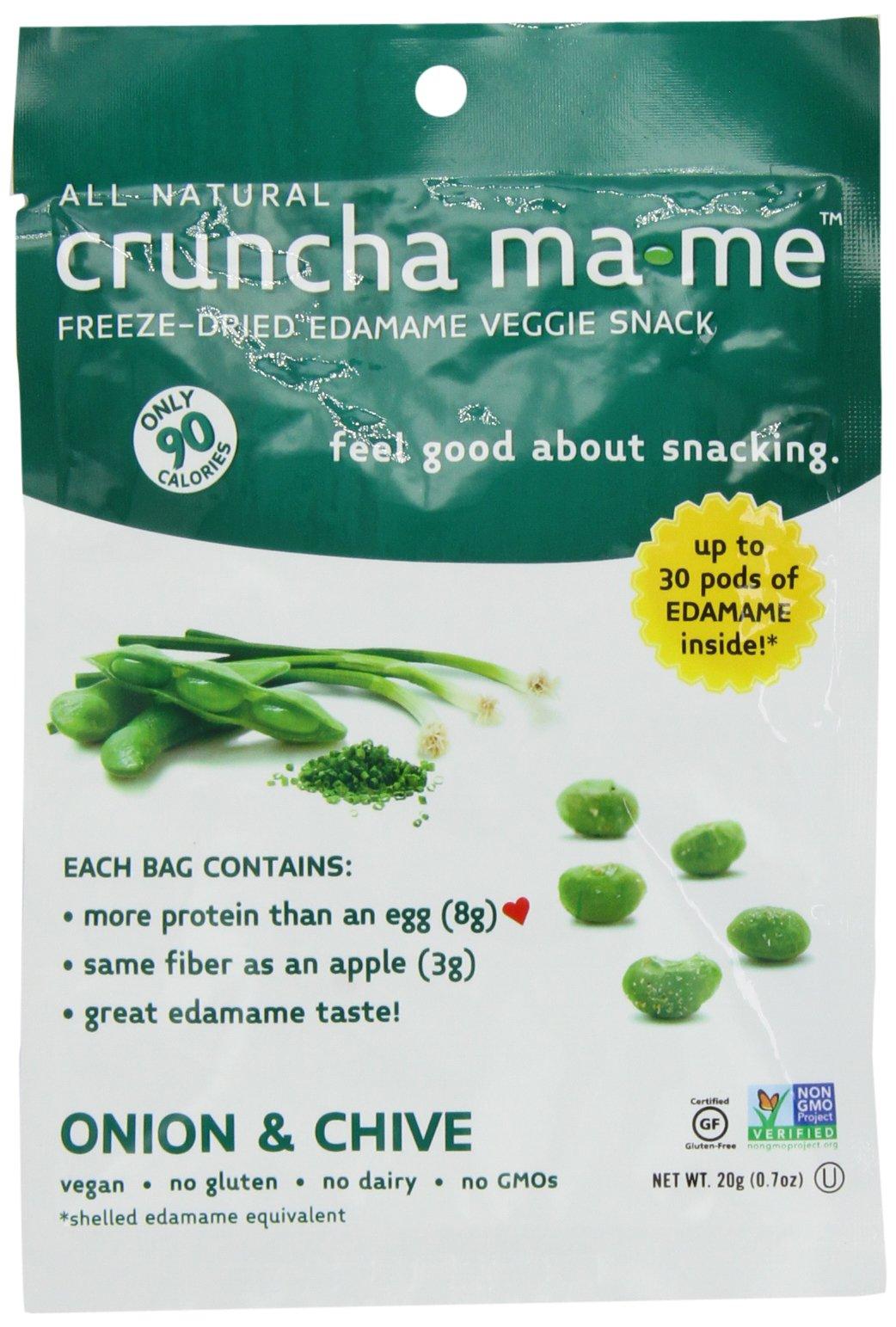 Eda-Zen Cruncha ma-me Edamame Veggie Snack, Onion & Chive, 0.7 Ounce (Pack of 8)