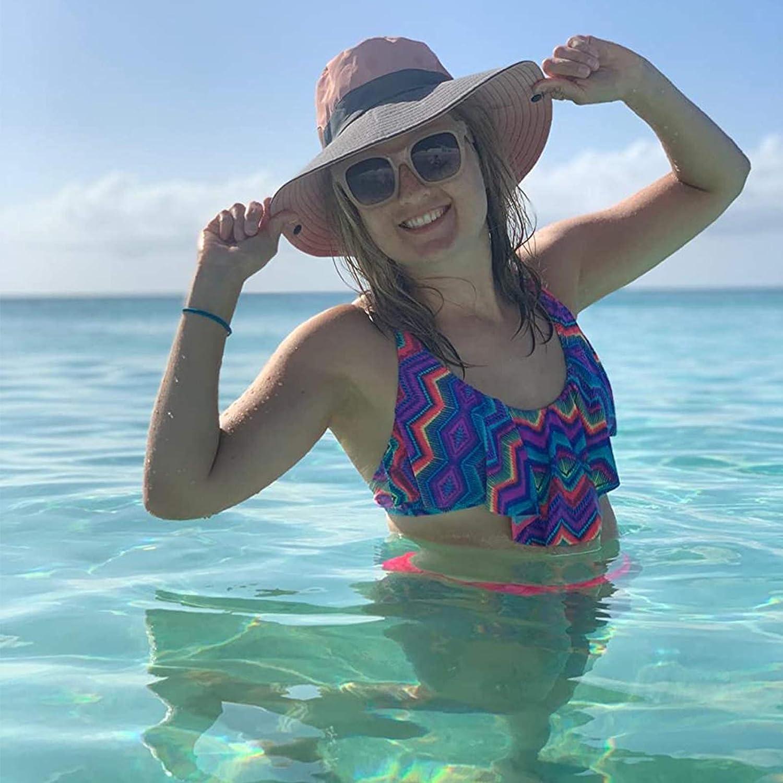 ala ancha para viajes Sombrero para mujer senderismo playa sand/ía Witery dise/ño de cubo de verano plegable protecci/ón UV pesca