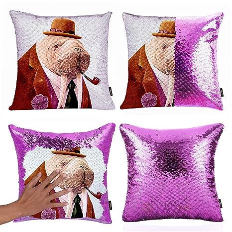 Amazon.com: Xiaowli - Funda de almohada con lentejuelas ...