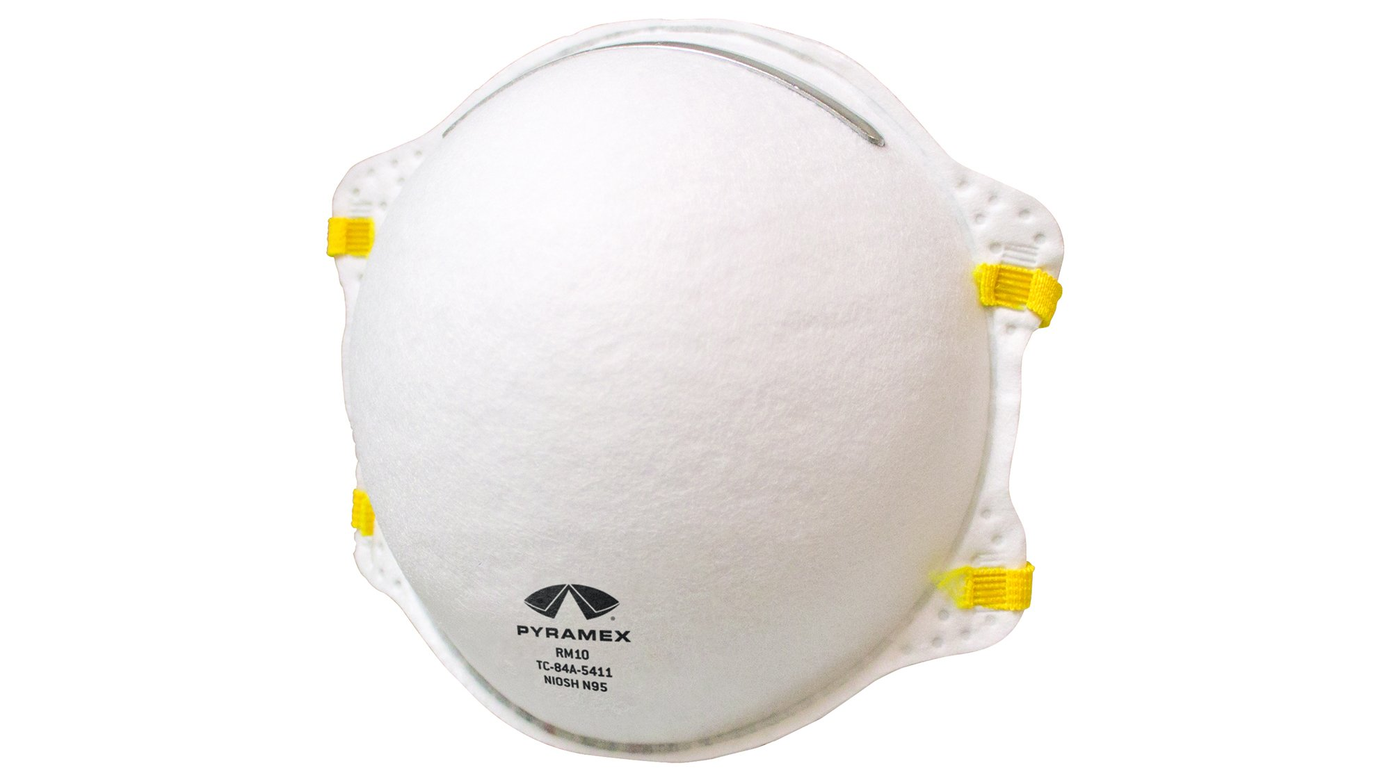 Pyramex RM10 N95 Disposable Cone Respirator, Clamshell Packaging, 3 Pack