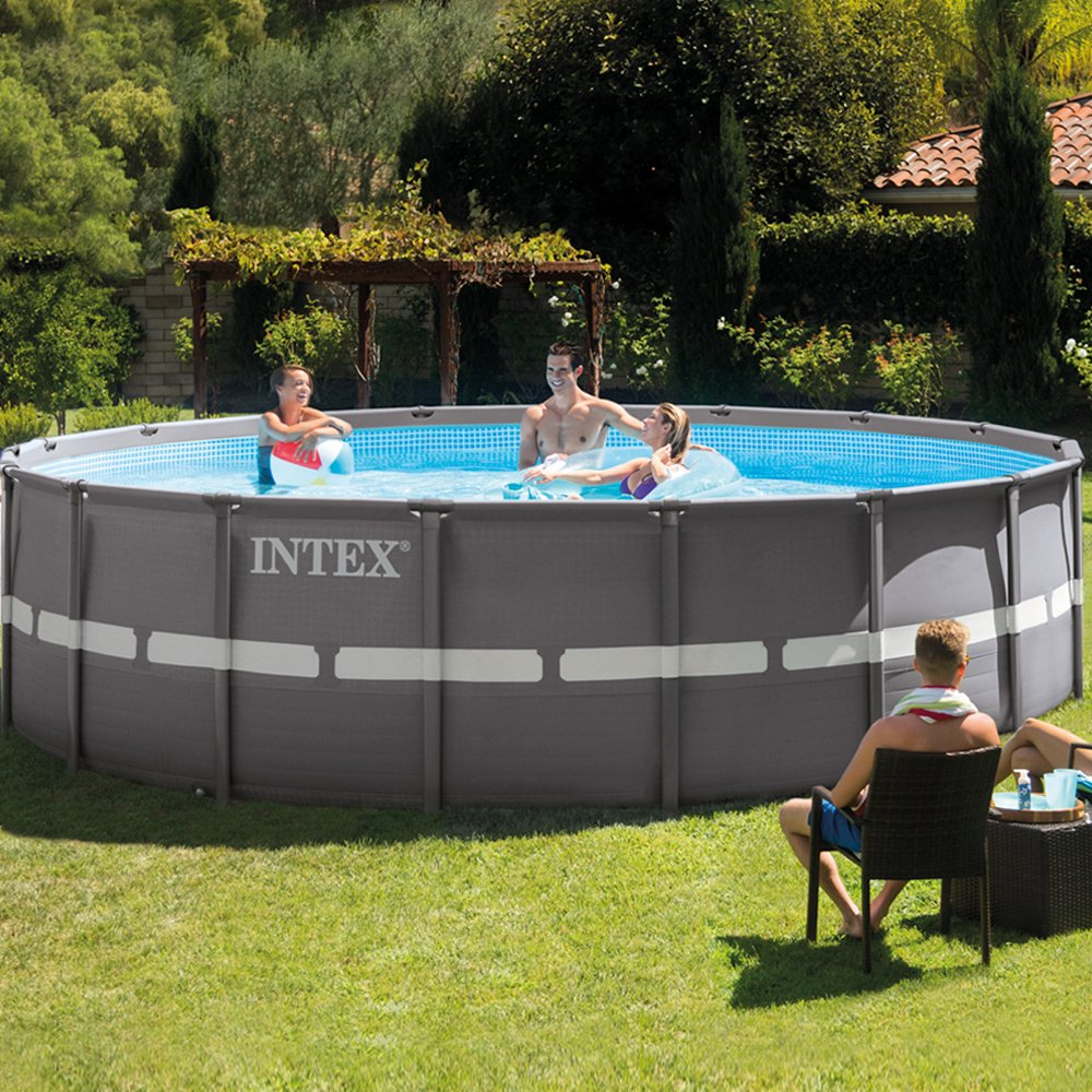 Intex Piscina desmontable Ultra Frame, 549 x 132 cm, 26.423 litros ...