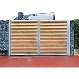 Einfahrtstor / Einbau-Breite 250cm / Einbau-Höhe 180cm / 2-flügelig / Holz-Füllung / Symmetrische Aufteilung / Verzinkt / Holz Tor Gartentor Holztor