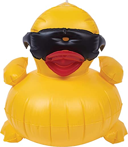 Amazon.com: Game 5001 Inflatable Derby Pato Pool Toy: Jardín ...