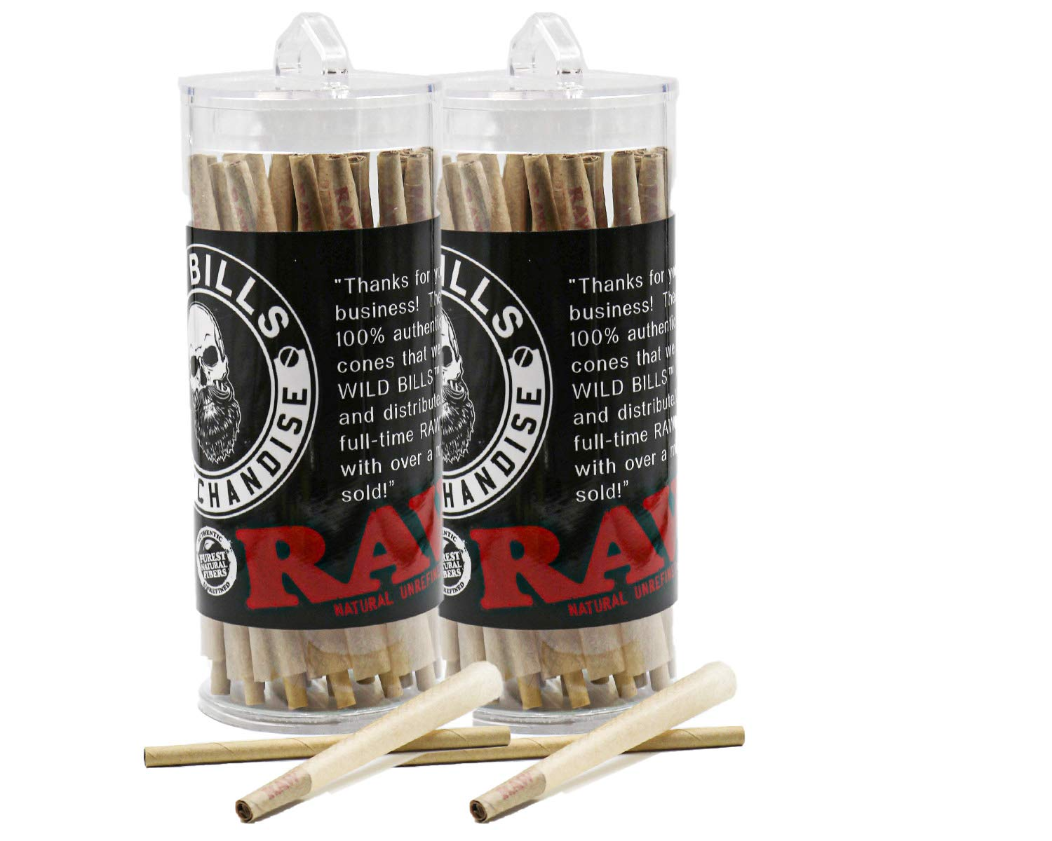 RAW Pre-Rolled Cones With Filter (200 Pack) Pure Raw Hemp by RAW