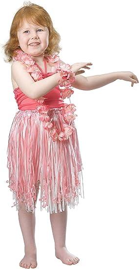 HULA - Disfraz de hawaiana para niña, talla 3-5 años (CC571 ...