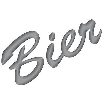 Schriftzug Bier 15cm Aufkleber Tattoo Wandtattoo Fenster Möbel Theke