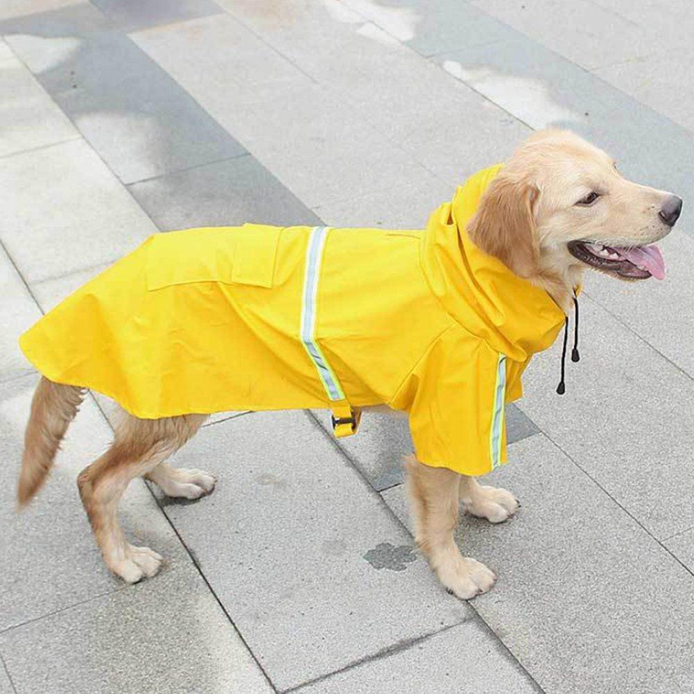 RUNF0N runf0/N Cappotto Impermeabile Fluorescente per Cane Abbigliamento Impermeabile con Cappuccio