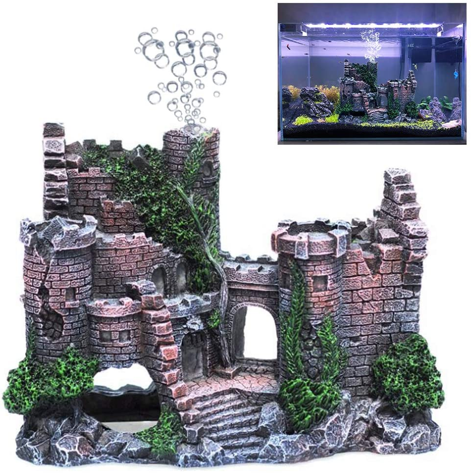 Aquarium Ornament Robot Dog Cool Walking Land Fish Tank Decorations for Betta Toys Small and Medium Fish Accessories Decor Backgrounds