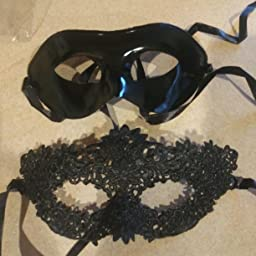 Amazon Com Customer Reviews Idoxe Adults Half Face Couple Masquerade Ball Masks Kit Rhinestone Size Free