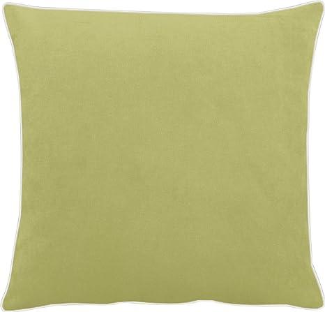 Apelt - Funda de cojín (terciopelo Uni, verde oliva, 46x46 ...