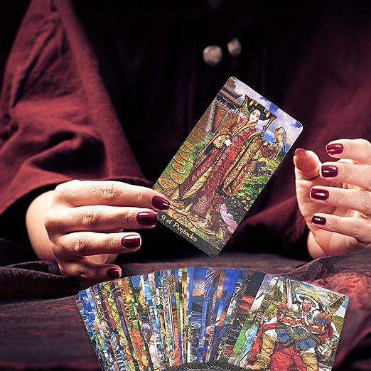 equival 78PCS Carta del Tarot Tarjetas De Juego De Mesa De Tarot para La Fiesta De Reunión Familiar 78 Tarot Illuminati Kit Tarot Cards Contemporary: Amazon.es: Hogar