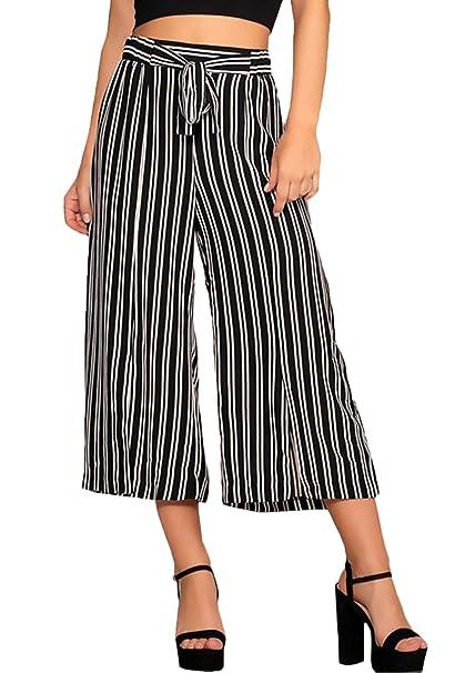 Eleganti Pantaloni Classico Vintage Semplice Estivi Righe A Donna ESw7xrTqS