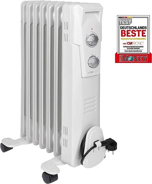 Clatronic RA 373x - Radiador de Aceite (radiador móvil) 1500 W, 7 ...