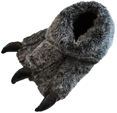 ab235500bea8 Boys And Mens Monster Claw Yetti Foot Novelty Warm Fluffy Slippers Size UK  1-12