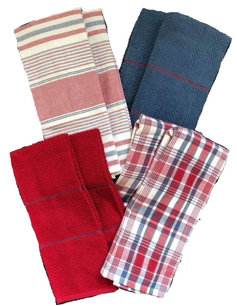 Lauren Ralph Lauren Kitchen Towels Absorbent Cotton 8 Pack 17 x 28 in Ralph Lauren Home