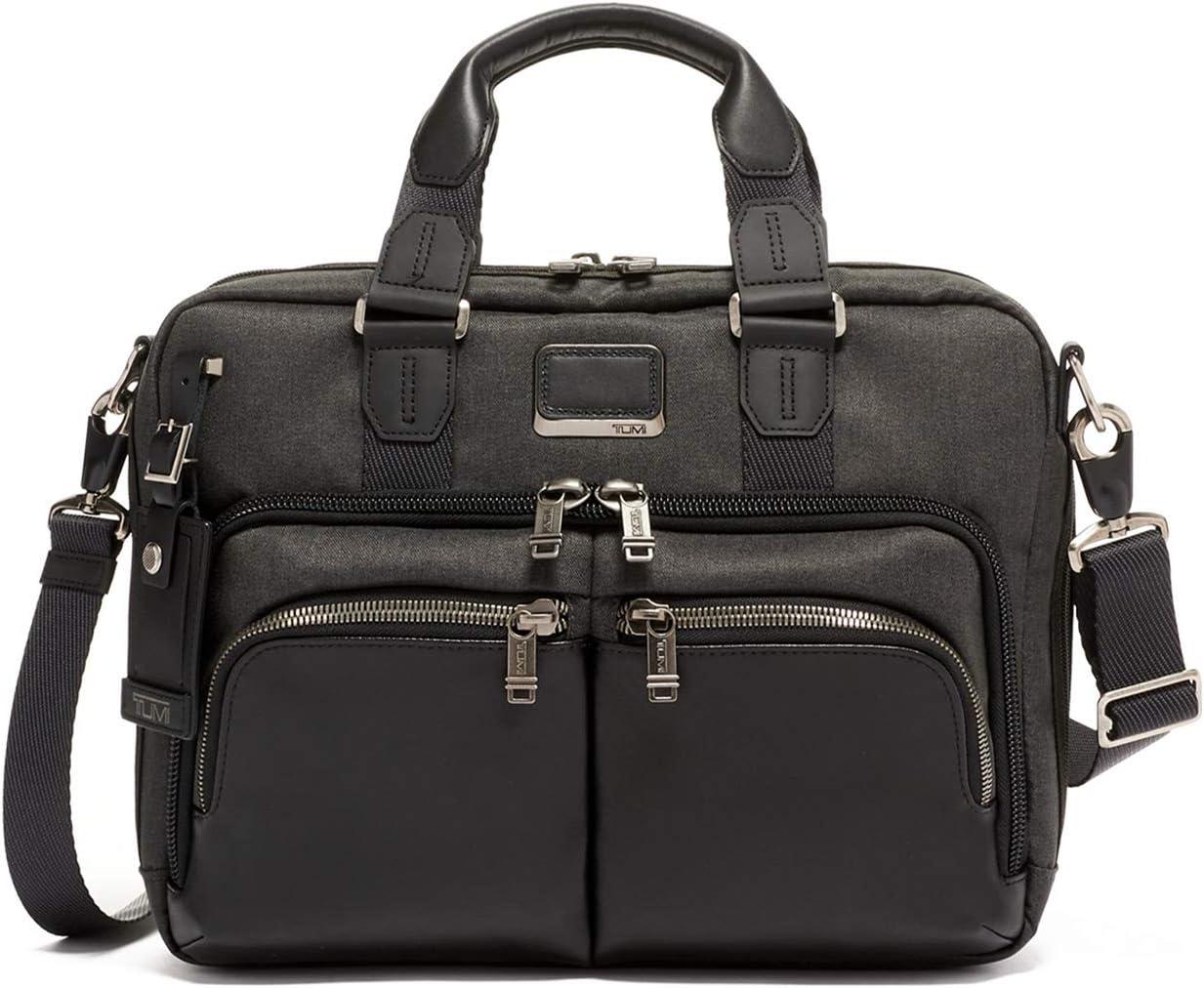 TUMI - Alpha Bravo Albany Laptop Slim Commuter Brief Briefcase - 14 Inch Computer Bag for Men and Women - Graphite