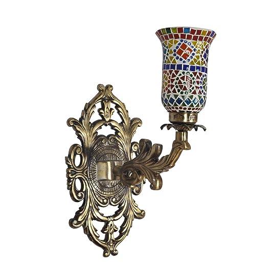 Amazon.com: Lalhaveli - Lámpara de pared (cristal, 7.9 x 4.7 ...