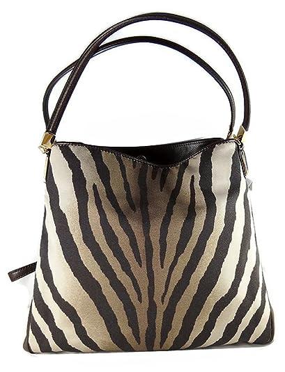 coach madison phoebe zebra print shoulder bag 26636 handbags rh amazon com