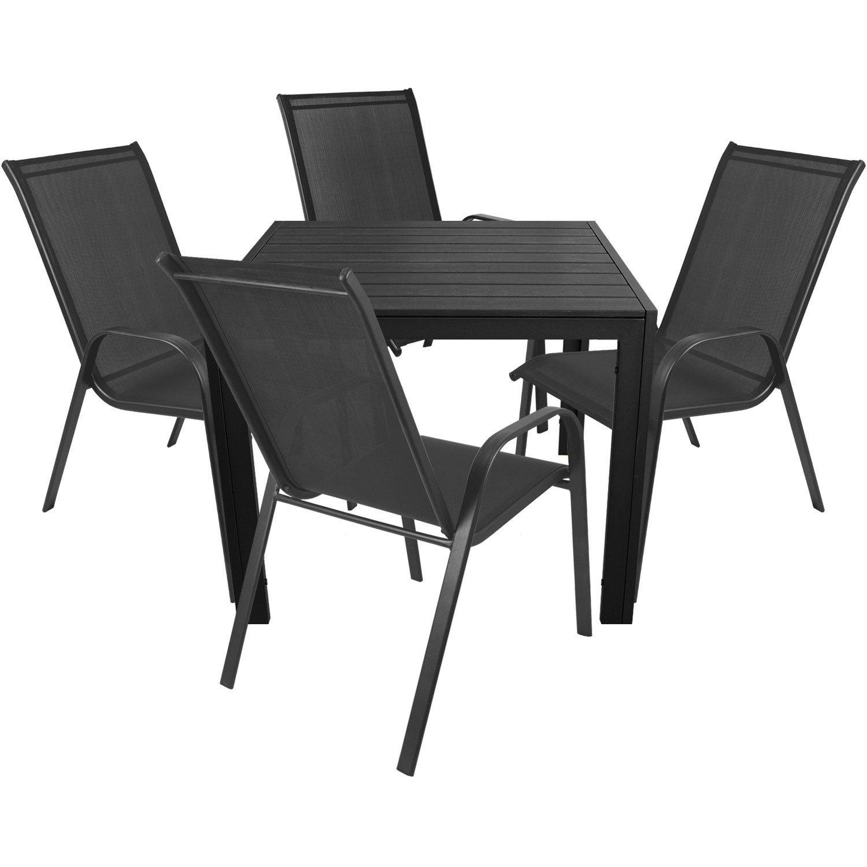 5tlg Gartenmöbel Balkonmöbel Set Sitzgruppe Sitzgarnitur