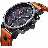 Mens Quartz Analog Unique Business Watch, Casual Fashion Design, 30M Waterproof, Comfortable Band