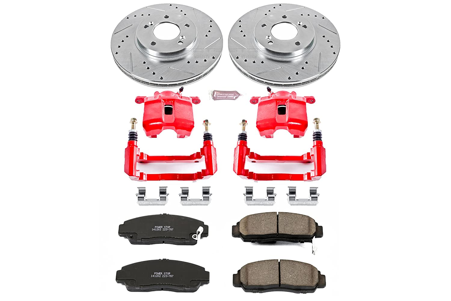 Front Only Power Stop KC2309 1-Click Performance Brake Kit with Calipers