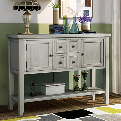SOLD......Antique Shabby Cottage Chic Painted White Dresser Buffet Media Console