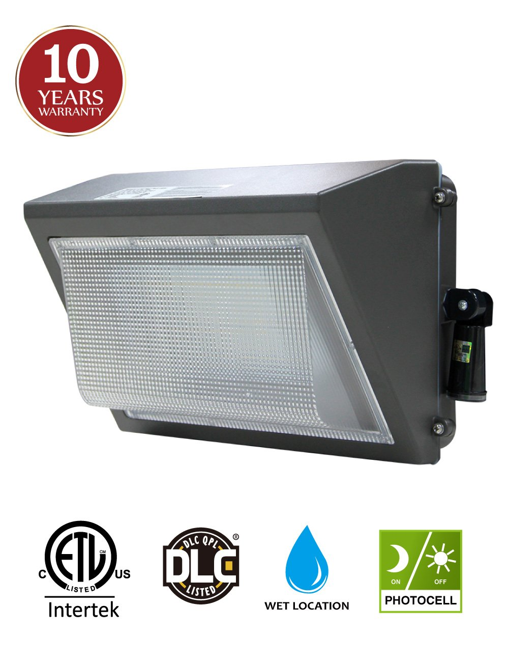 100W LED Wall Pack with Adjustable Dusk-to-dawn Photocell, 300-400W HPS/MH Replacement, IP65 Rated Waterproof Outdoor Commercial Lighting Fixture, 5000K 12500lm 10-year Warranty by Kadision by kadision