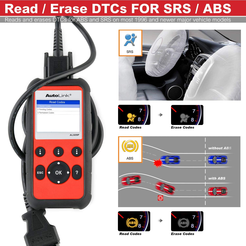 Autel AutoLink AL609P OBD2 Escáner, Herramienta de Diagnóstico ...