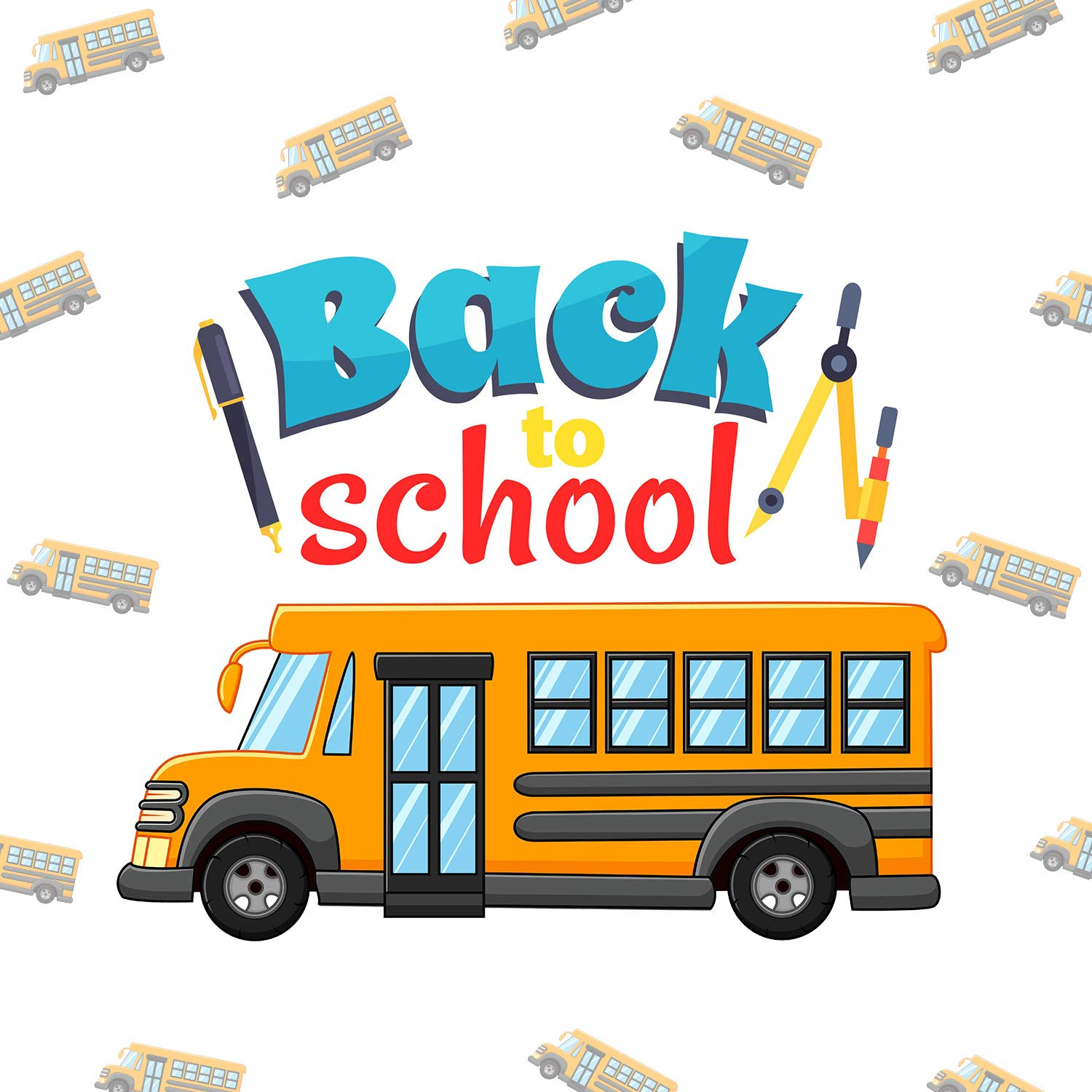 Kids DIY Arts and Crafts Calendars Album 12 Sheets Outus School Bus Stickers Mini Yellow Bus Stickers for Scrapbooking