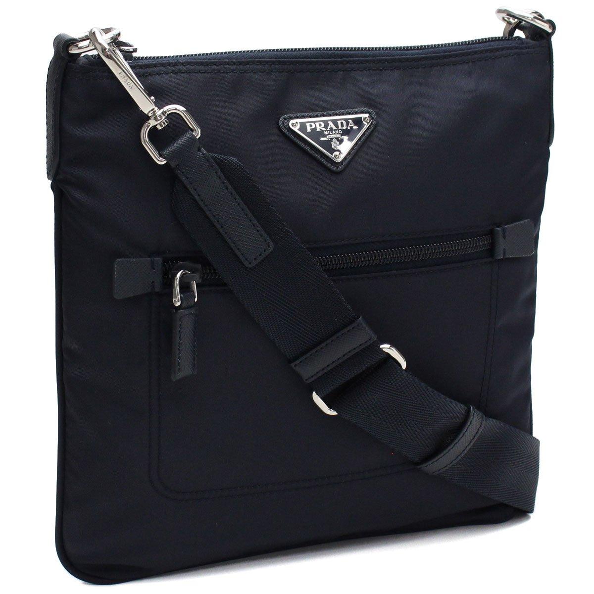 316d54b1b Amazon.com: Prada Black Tessuto Nylon Messenger Crossbody Handbag 1BH716:  Shoes